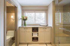 #bathroom #hardwood #white #glass #StainlessSteel #tile #slidingdoor #interiordesign #hillcrestdesign http://www.hillcrestdesign.ca