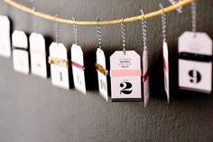 Graphic + Glitz Wedding Invitations & Paper Details: table hang tags #typography