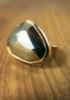 Melissa Joy Manning ring: Pyrite 14 Karat Gold Ring