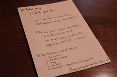 Lately I've been a little obsessed with Pinterest. Just a little. So when I was looking for something to give my husband for Christmas, I found this amazing idea for a year of pre-planned date nights. And I knew it was something I had to try and recreate for him. She not only planned each [...]