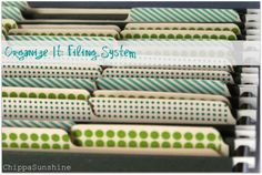 ChippaSunshine: Organize It: Filing System
