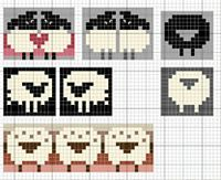 Love sheep pattern by Eve Laine