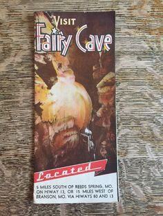 Vintage Fairy Cave Reeds Spring Missouri Brochure Map 1950s 60s Advertising  #Unbranded