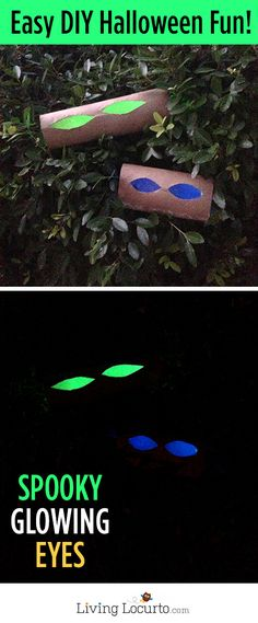 Spooky Glow in the Dark Eyes are Easy Halloween Decorations You can Make with a Few Simple Steps! A fun Glowing Eyes DIY Halloween craft. Easy Halloween Crafts, Halloween 2014, Spooky Halloween, Holidays Halloween, Halloween Themes, Holiday Crafts, Holiday Fun, Happy Halloween, Halloween Decorations