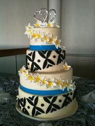 this beautiful cake for samoan wedding...