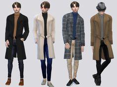 McLayneSims' Phillips Autumn Coat Sims 4, Die Sims, Autumn Coat, Denim Joggers, Denim Blouse, Nba Sports, Sims Community, Camo Jacket, Big Daddy