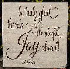be truly glad there's a Wonderful Joy ahead by VINYLandBOWS