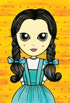 #illustration #dorothy #oz #wizardofoz #poster #drawn #girl #cinema #character