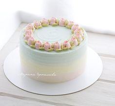 Creative Cake Decorating, Cake Decorating Techniques, Creative Cakes, Cake Icing, Buttercream Cake, Pretty Cakes, Cute Cakes, Mini Cakes, Cupcake Cakes