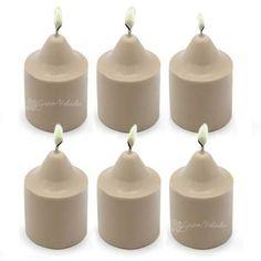 Molde para hacer 6 velas de parafina fácil y rápido. Haz fácilmente esta 6 velitas, es tan sencillo como: derretir,  vertir, desmoldar y poner la mecha, son ideales para hacer pequeños centros navideños! #hacervelas con nosotros es sencillo, #DIY