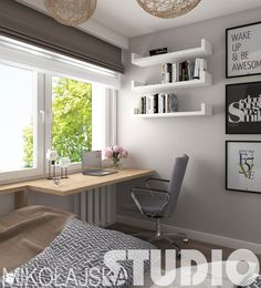 Podobny obraz Small Apartment Living, Teenage Room, Study Rooms, New Room, Living Room Interior, Home Kitchens, Home Office, Bedroom Decor, House Design