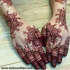 Modern and Attractive Red Mehndi Designs - Kurti Blouse Wedding Henna Designs, Latest Henna Designs, Henna Art Designs, Indian Mehndi Designs, Stylish Mehndi Designs, Mehndi Designs For Fingers, Latest Mehndi Designs, Arte Mehndi, Tatoo