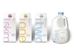 Packaging Creativo para Leche: Schroeder || Diseñado por: Capsule, Estados Unidos.