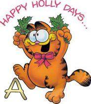 Oh my Alfabetos!: Alfabeto navideño de Garfield.
