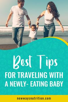 Traveling with a newly eating baby can be very tricky. So here are 12 tips for you as you travel with your baby to make life easier and to give you the confidence you need. Traveling With Baby, Travel With Kids, Family Travel, Toddler Nutrition, Nutrition Tips, Family Planning, Meal Planning, Food Tips, Baby Food Recipes