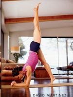 Great Pincha Practice!    Yoga Journal - Yoga Asana Columns - This Side Up: Building a Forearm Balance