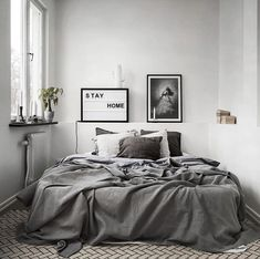 Minimalist Home Design Tiny Houses minimalist bedroom decor colour.Minimalist Home Design Kitchen White minimalist bedroom ikea minimalism. Minimalist Bedroom Design, Bedroom Colors, Bedroom Interior, Kitchens And Bedrooms, Interior, Minimalist Bedroom, Home Decor, Small Bedroom, Interior Design Bedroom