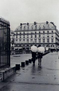 Beautiful black and white and rainy Paris.