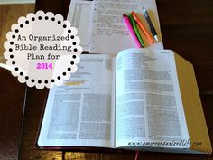 An Organized Bible Reading Plan for 2014