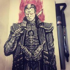 Count Fenring. Dune sci-fi concept artwork illustration by Tom Kraky.
