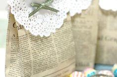 Reciclado, bolsas de papel decorativas