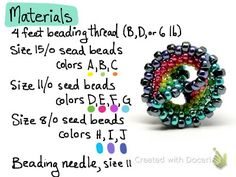 gwenbeads: How to Make a Rainbow Twist Beaded Bead  #Seed #Bead #Tutorials