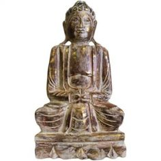 Buddha Statue - 50 cm buddhas carved wooden albesia buddhas - Very unique and original, our range of carved wooden Buddha will make great feature for any home. Wooden Carved Buddha is made from a fast growing soft wood called Albesia that is always farmed and therefore sustainable.