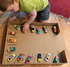 Numbers Learning with a Car Parking Numbers Game - great for preschoolers