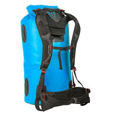 Built to protect a ton of bulky gear during a multiday canoe, float or fishing trip, the huge, waterproof Sea to Summit Hydraulic dry bag with harness makes it super easy to portage your gear. Available at REI, Satisfaction Guaranteed. Backpacking Tips, Hiking Gear, Camping Gear, Campsite, Glam Camping, Sport Fishing, Kayak Fishing, Stand Up Paddle Board, Kayak Accessories