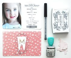 absolutely adorable way of recording lost teeth from Novembrino Novembrino Reaves Project Life Scrapbook, Baby Scrapbook, Scrapbook Cards, Project Life Baby, Tooth Fairy Receipt, Baby Journal, Life Page, Studio Calico, Life Inspiration