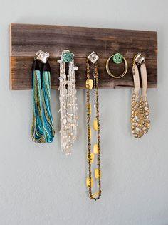good option for a DIY jewelry storage rack, via Etsy