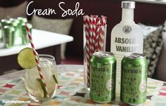 Cream Soda: Seagram's Ginger Ale + Vanilla Vodka
