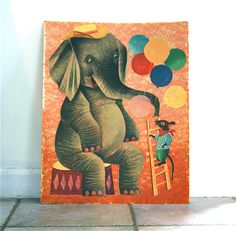 Jumbo and the Mouse WEISGARD Vintage by Honeybrownvintage on Etsy. $24.00, via Etsy.