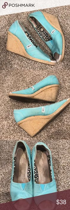Toms aqua blue wedges Toms aqua blue wedges Toms Shoes Wedges