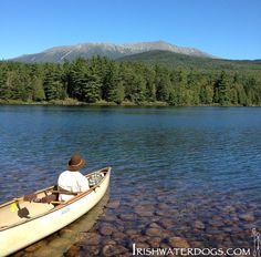 Canoeing under Katahdin mountain, Maine. | IRISHWATERDOGS - Kayaking, Hiking, Camping and Outdoors.
