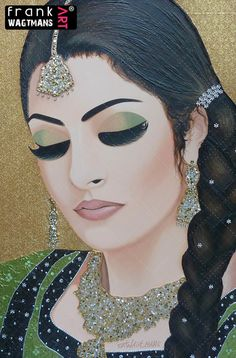Frank's Art - Indian woman painting Just The Way You Are