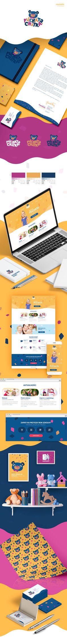 Przedszkole Puchata Chatka on Behance logo branding packaging design