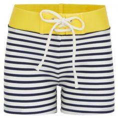 Finger In The Nose Boys Nautical Stripe Swim Trunks