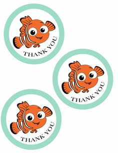 Free Finding Nemo thank you tags printable! Perfect for party favors…