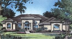 The columned portico provides a majestic entry into a well designed home. Tiled foyer and walkways separate the formal dining room and living room.
