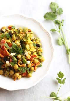 Had this tonight at a going away party and it was yum! (Curried Chickpea Salad | Hummusapien)