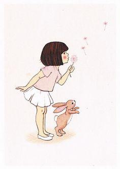 Belle & Boo illustration by Mandy Sutcliffe Art And Illustration, Belle Y Boo, Vintage Abbildungen, Vintage Postcards, Cute Art, Illustrators, Art Drawings, Character Design, Sketches