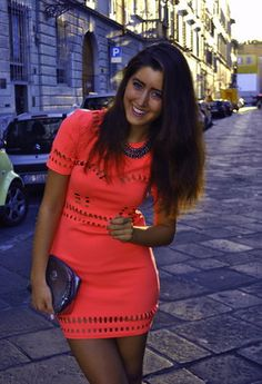 simple coral dress, but very cute!