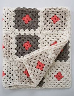 Learn to Crochet a Granny Square Blanket Pattern