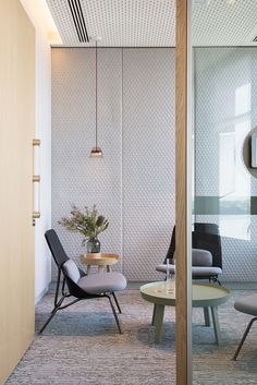 Stunning Quilted Wall Design in Meeting Room