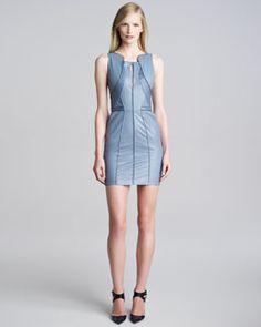 T5Q11 J. Mendel Leather Origami Dress