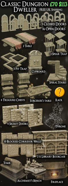 Characterful Dungeon Terrain and Detailed Fantasy Scenery for Miniature Wargaming and RPGs.