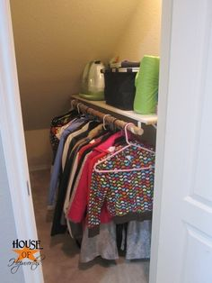 Under the Stairs Coat Closet Renovation - perfect for our house!