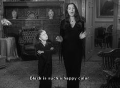 Morticia. Teaching. The Adams Family.