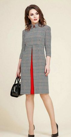My kind of plaid dress is part of Fashion dresses - Popular Ladies African Fashion, Korean Fashion, Dame Chic, Work Fashion, Fashion Design, Fashion Fashion, Fashion 2018, Hijab Fashion, Korean Dress